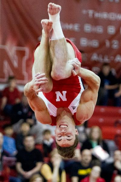 Nebraska vs. Iowa and Minnesota mens gymnastics