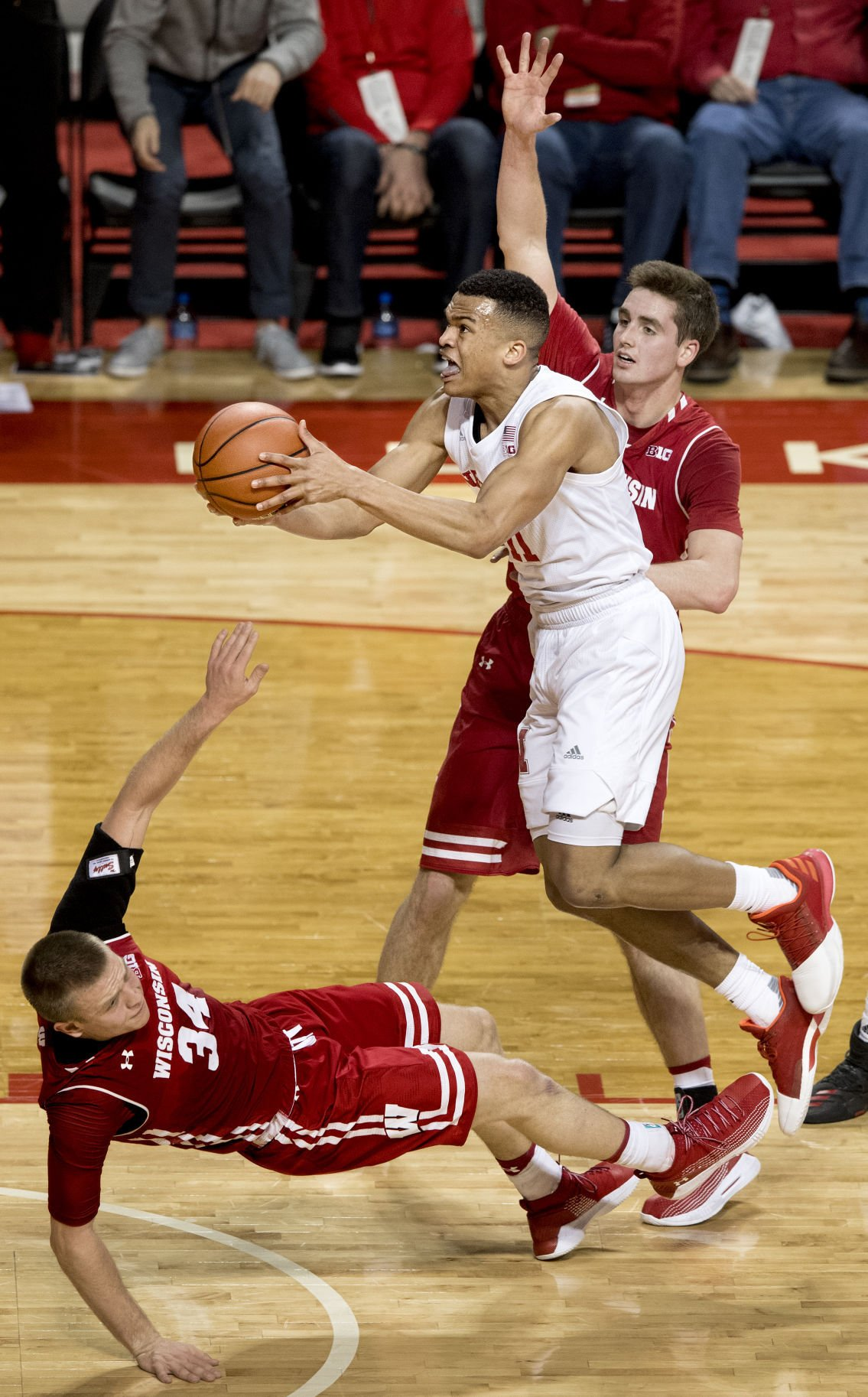 Wisconsin vs. Nebraska basketball, 1/9/18