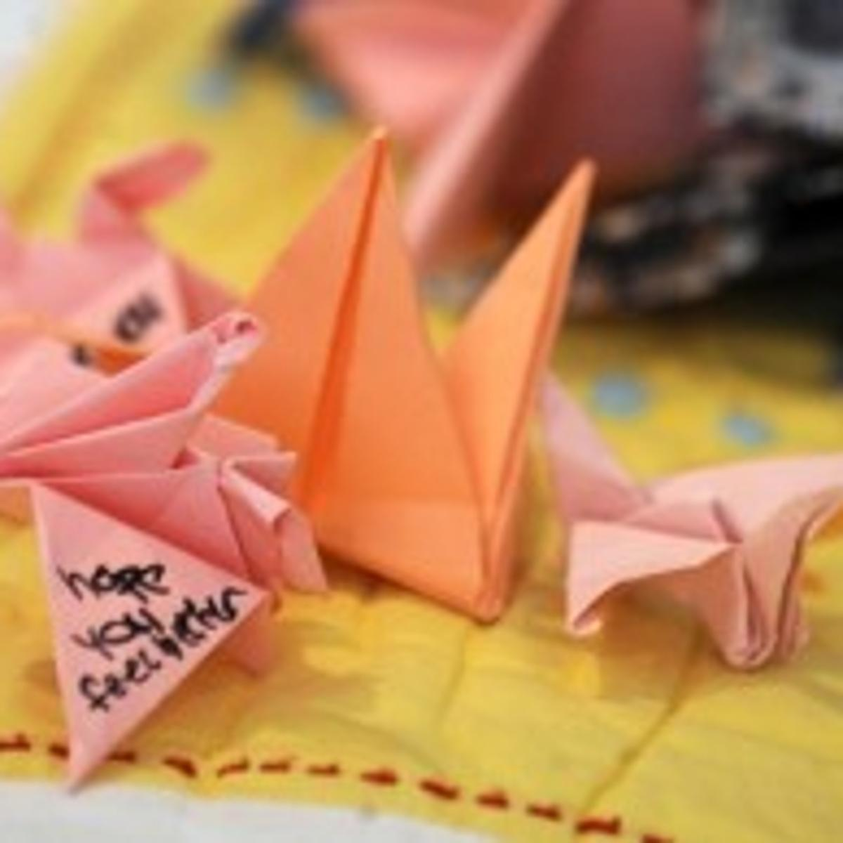 origami crane...nice printable instructions (With images ... | 1200x1200