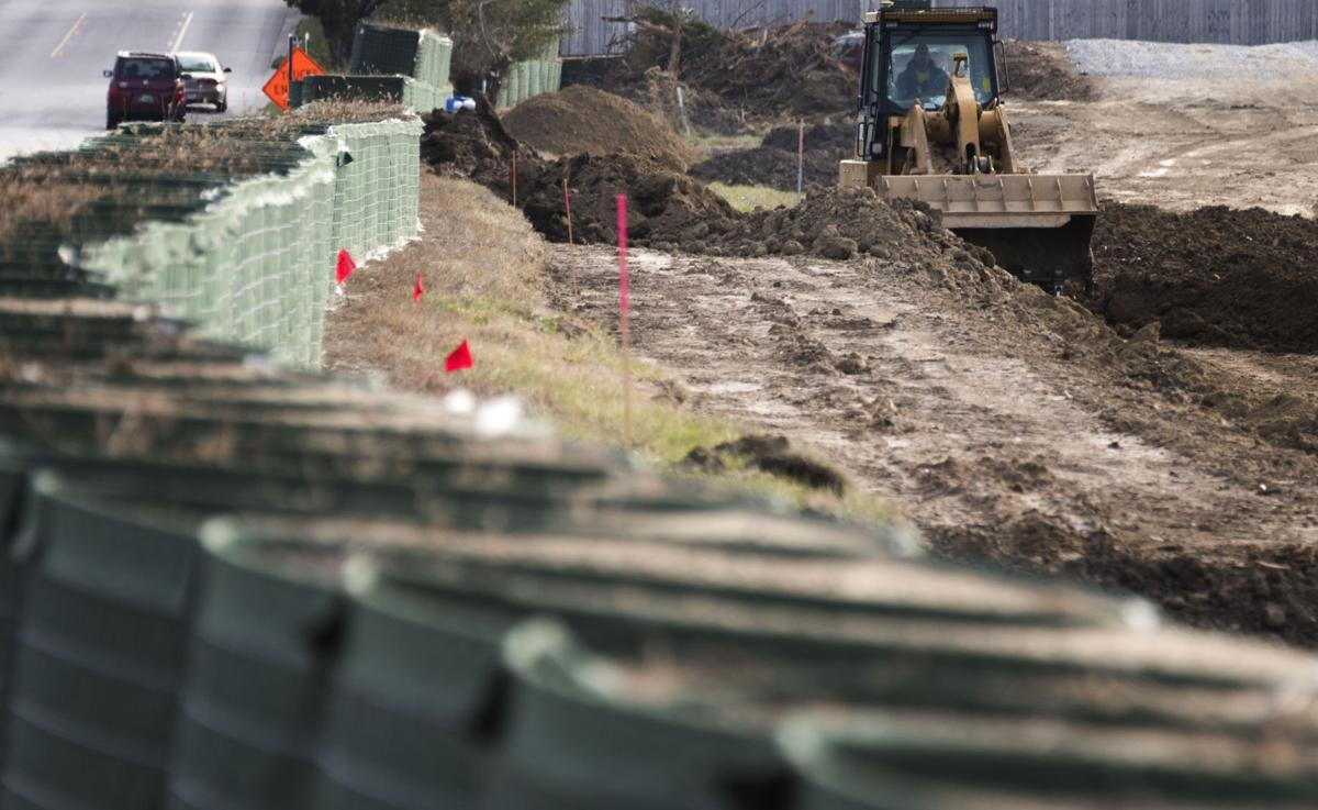 Folsom flood wall