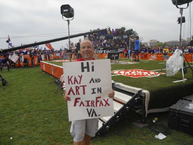 "Bob Mersed, first ""GameDay"" sign"