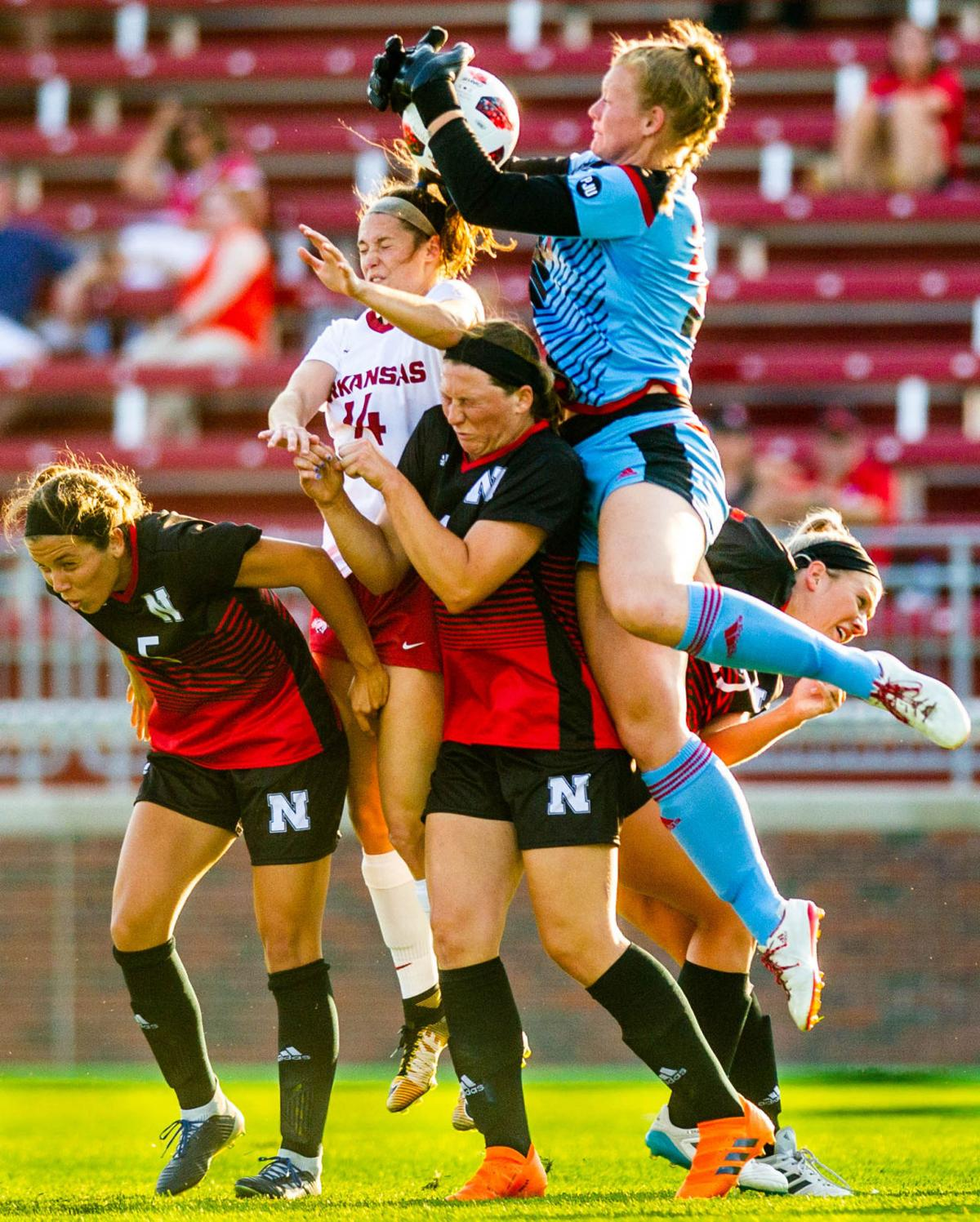 Nebraska soccer vs. Arkansas, 8/9