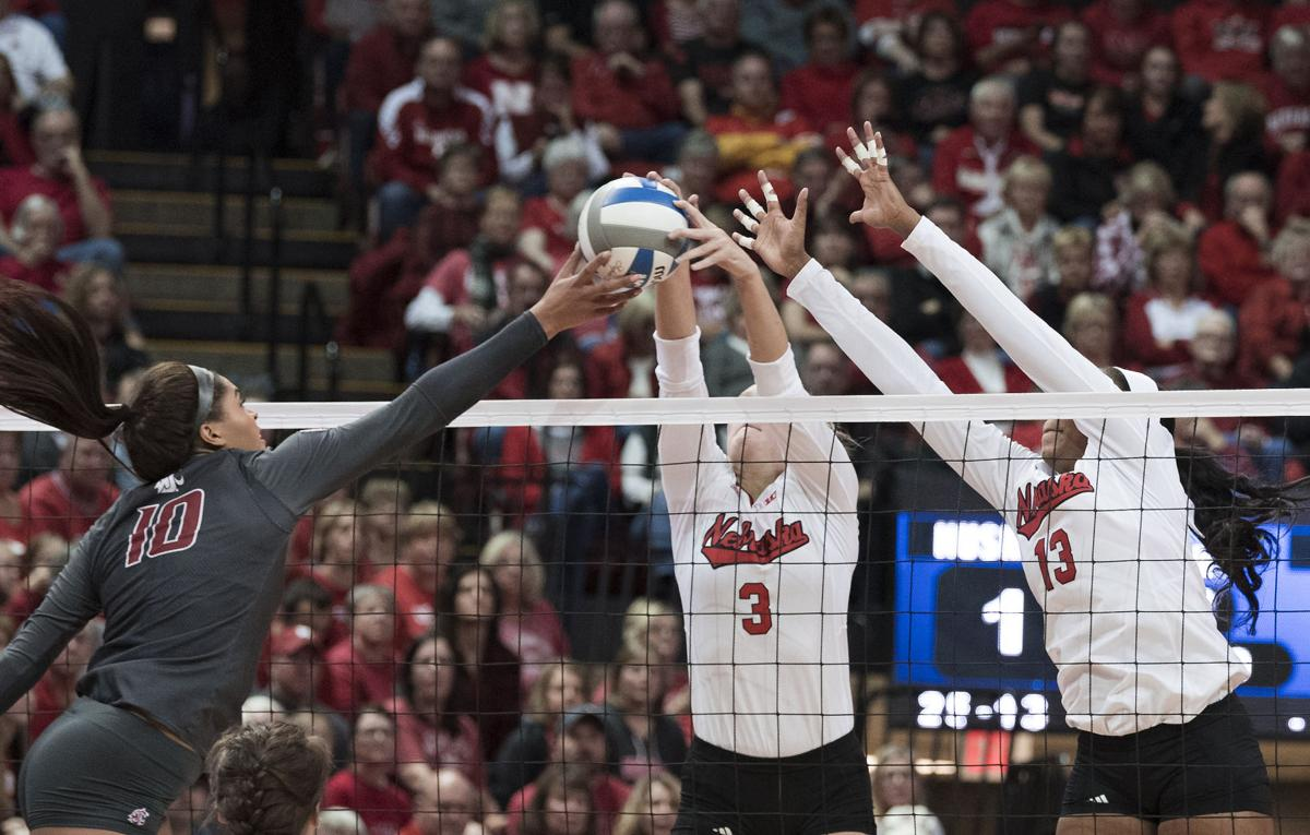 NCAA volleyball, Washington State vs. Nebraska, 12/2/17