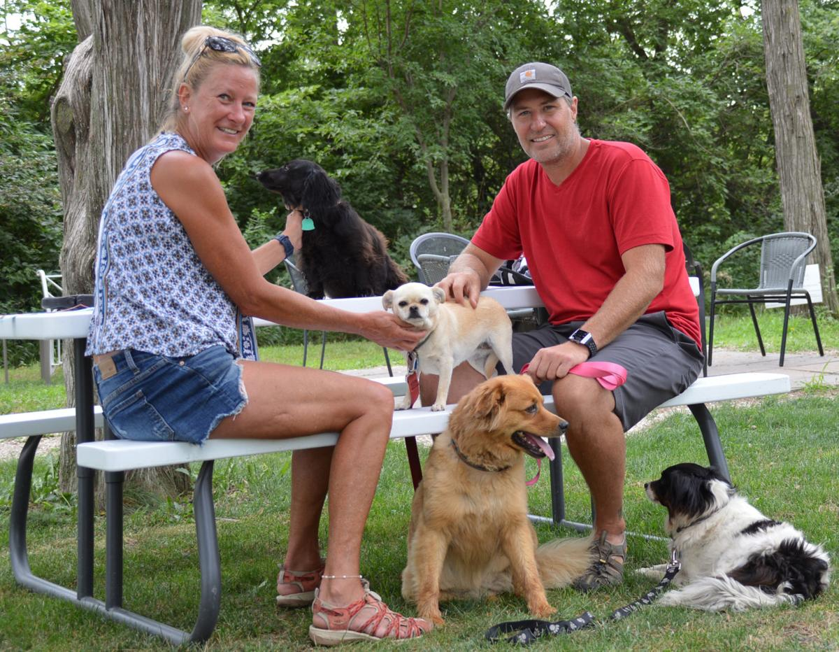 Christy and John Saum with dogs