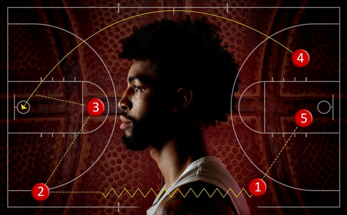 NU Men's Basketball's Isaac Copeland, 12.31