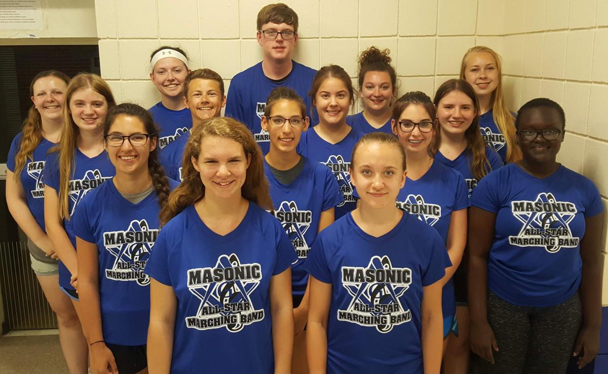 Lincoln students in Masonic All-Star Marching Band