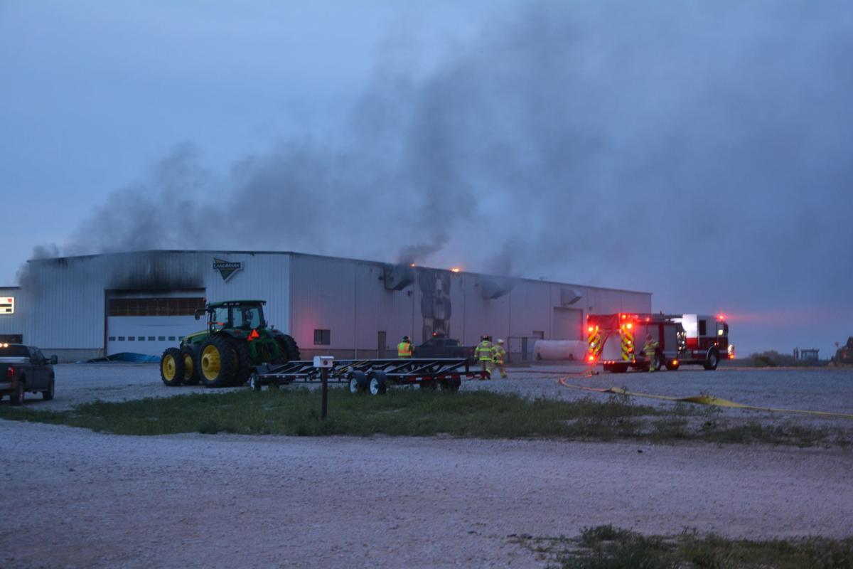 Fire at LandMark Implement