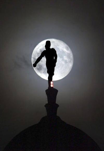 Sower in full moon