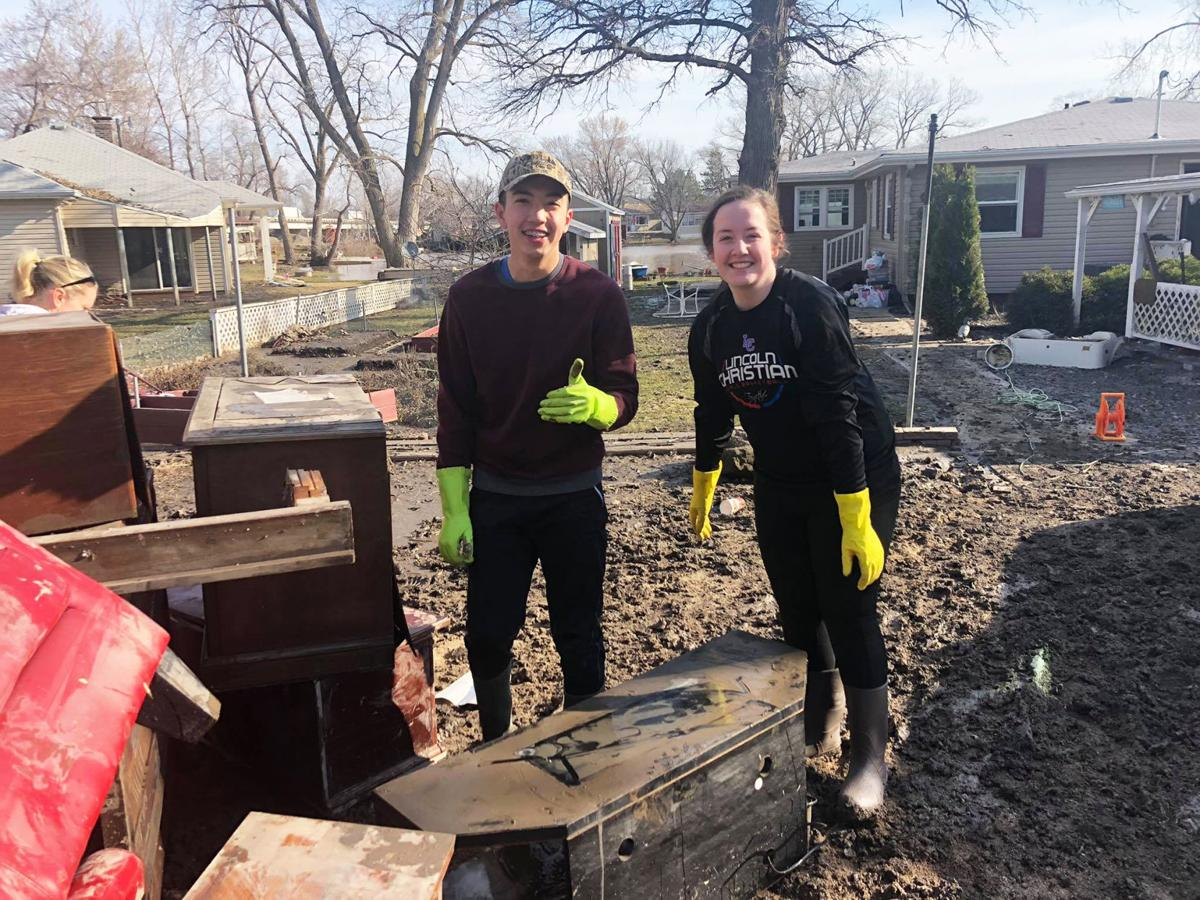 Lincoln Christian flood cleanup