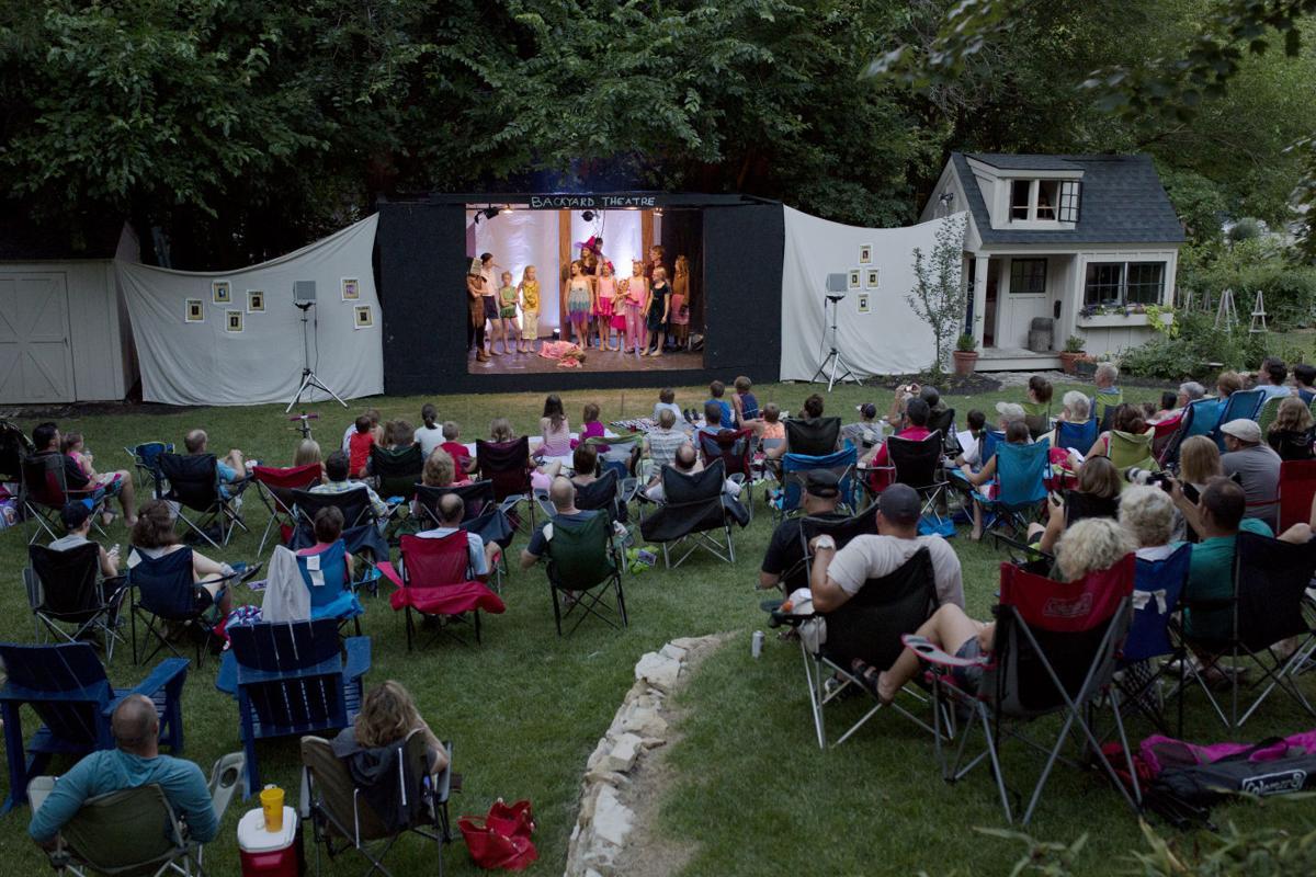 13 year old directs shrek the musical in backyard local