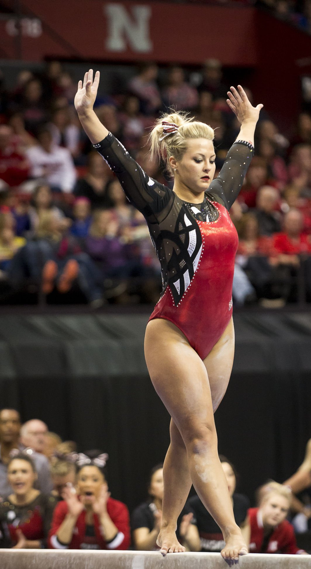 Michigan Edges Huskers In Womens Gym Big Ten -1187