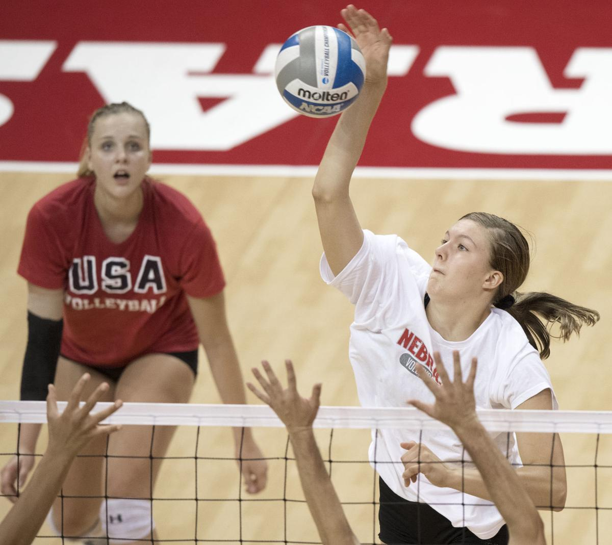 Nebraska volleyball camp, 7/10/18