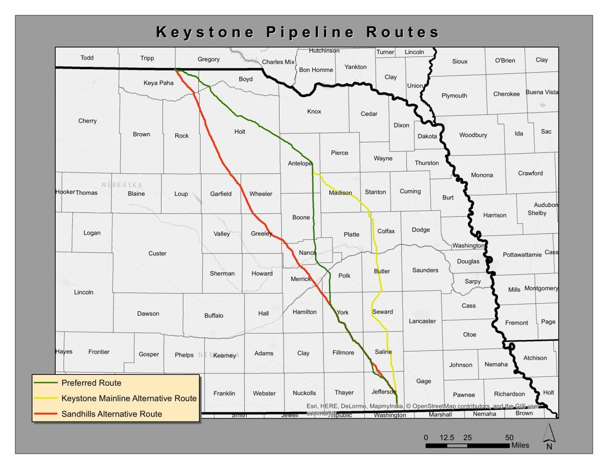 Keystone XL routes