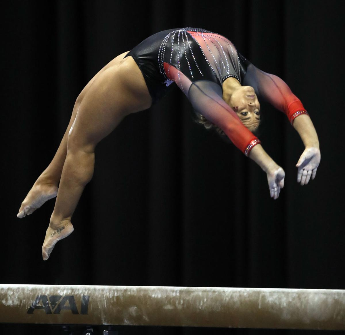 NCAA women's gymnastics: Huskers don't fold, finish sixth ...