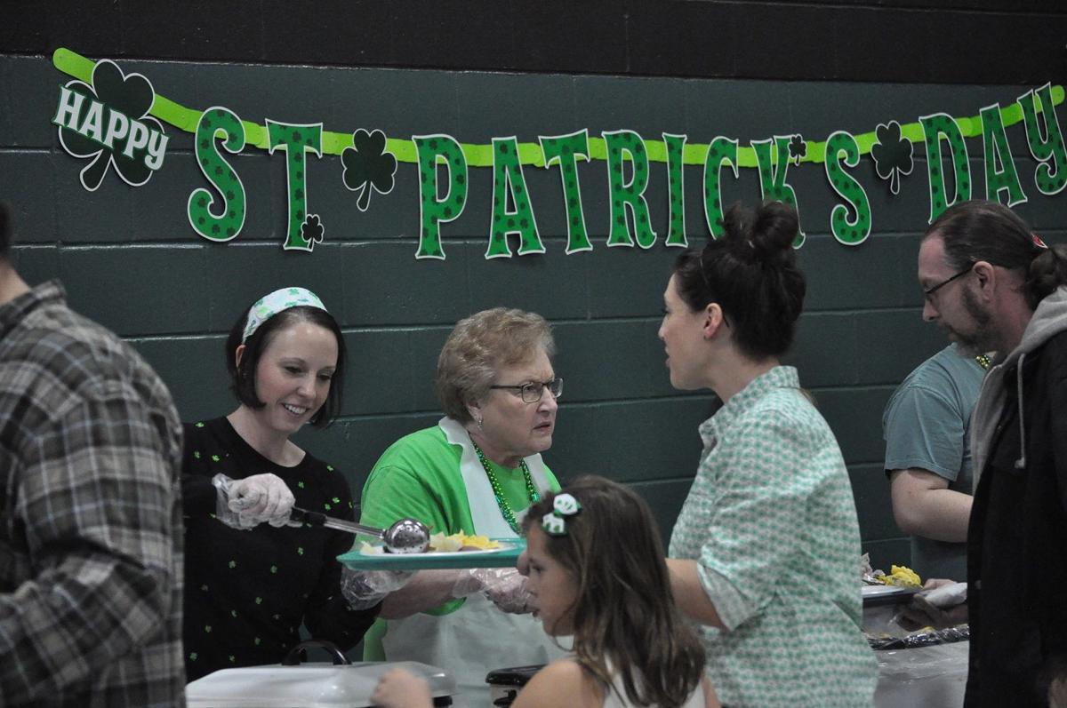 St. Pat's serving line