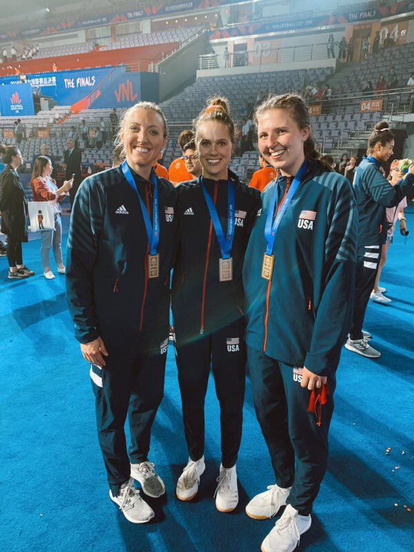 Ex-Huskers with USA volleyball