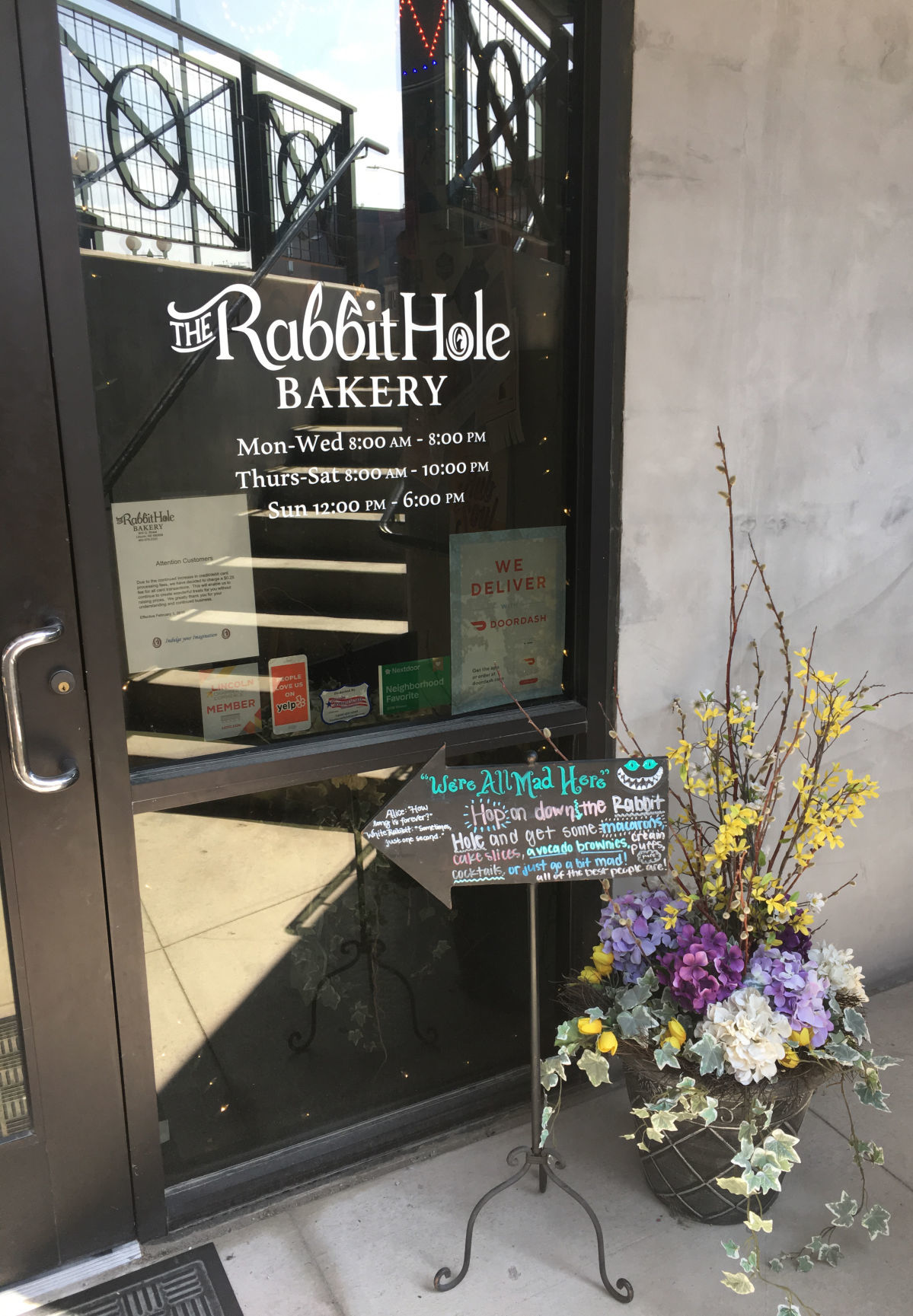 Rabbit Hole Bakery located in basement at Eighth and Q