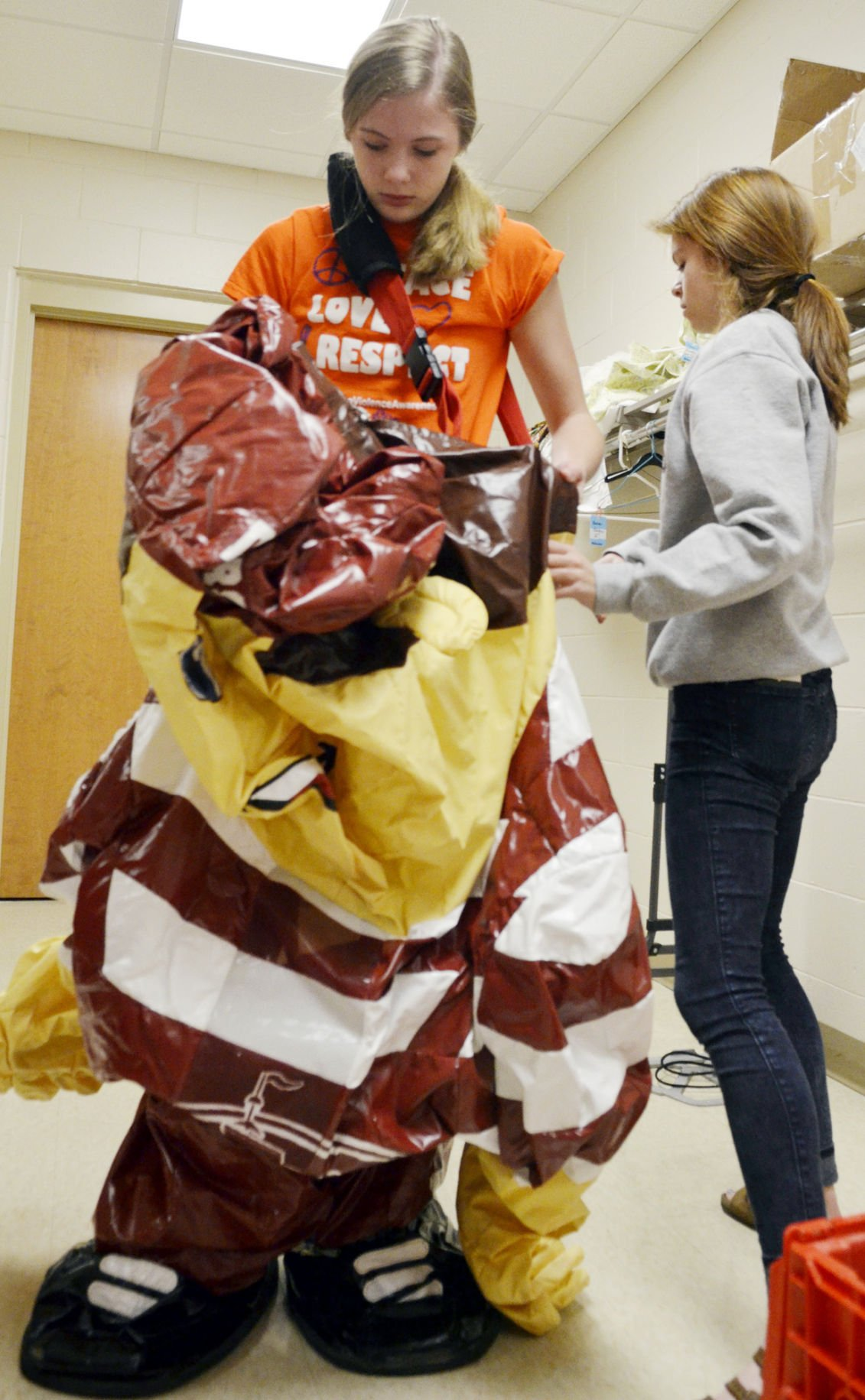 Students suit up as high school mascots in Columbus ...