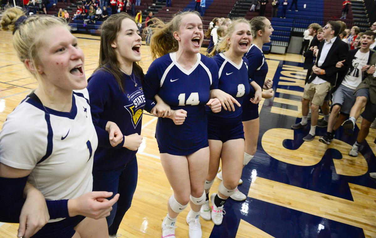 State volleyball, Lincoln Lutheran vs. Chadron, 11.07