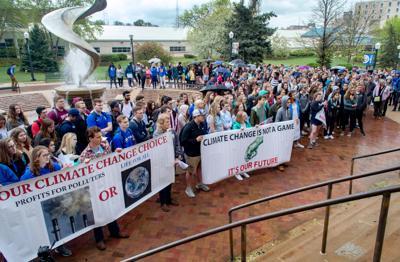 Creighton climate change rally
