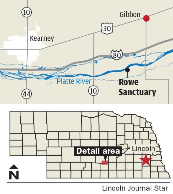 Rowe Sanctuary map