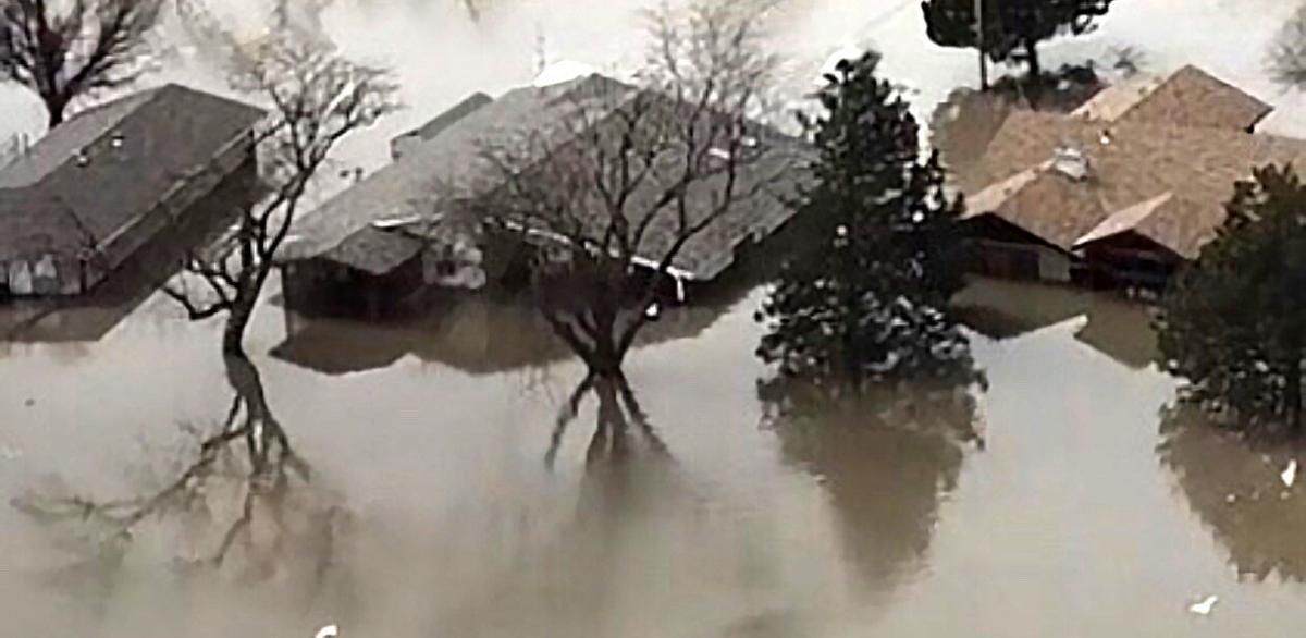 Steve and Deidre Singleton's flooded house