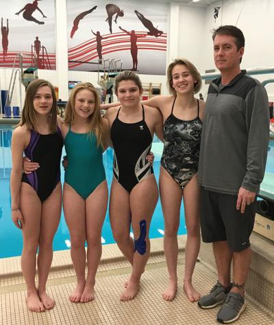 Nebraska Diving Club divers and coach