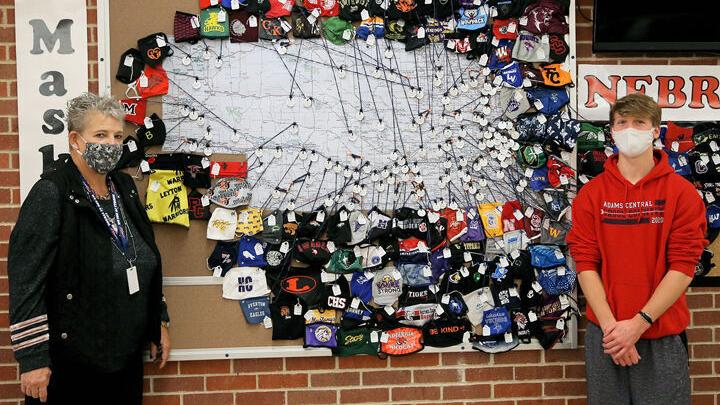 Adams Central project collects face masks from Nebraska high schools and colleges