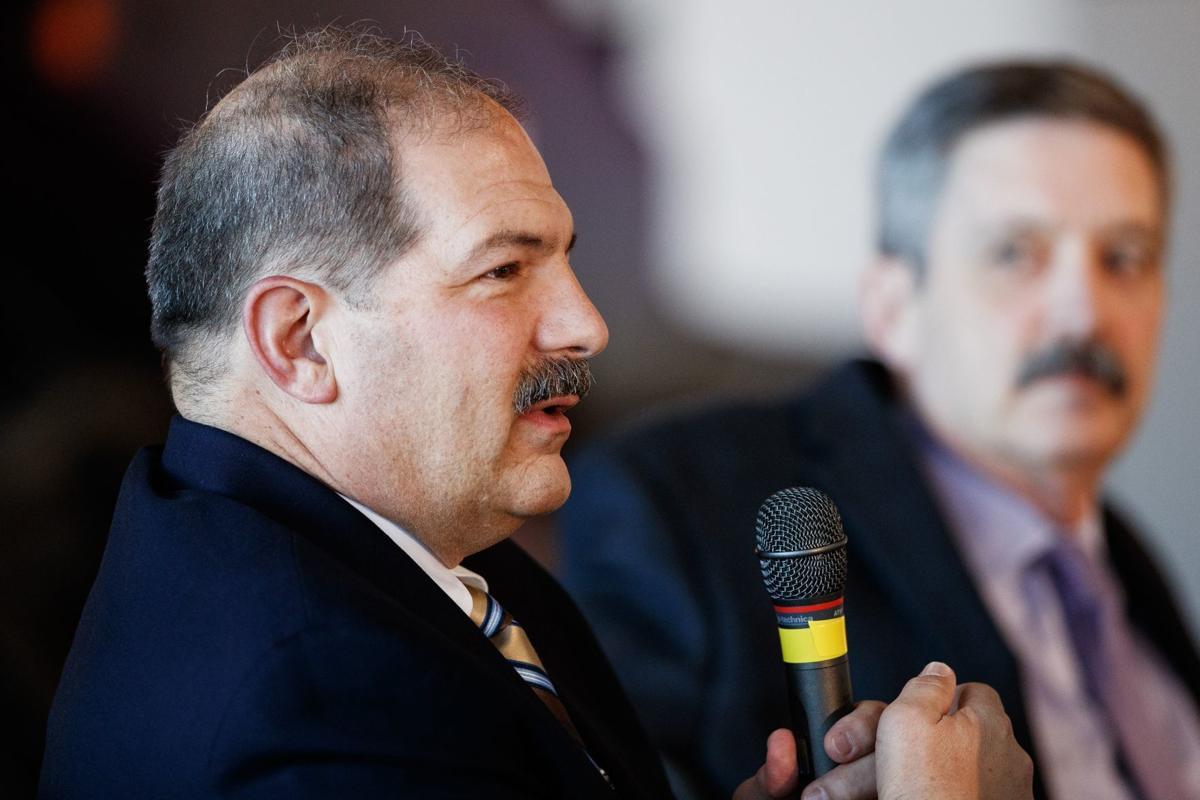 Phil Raimondo speaking in 2019