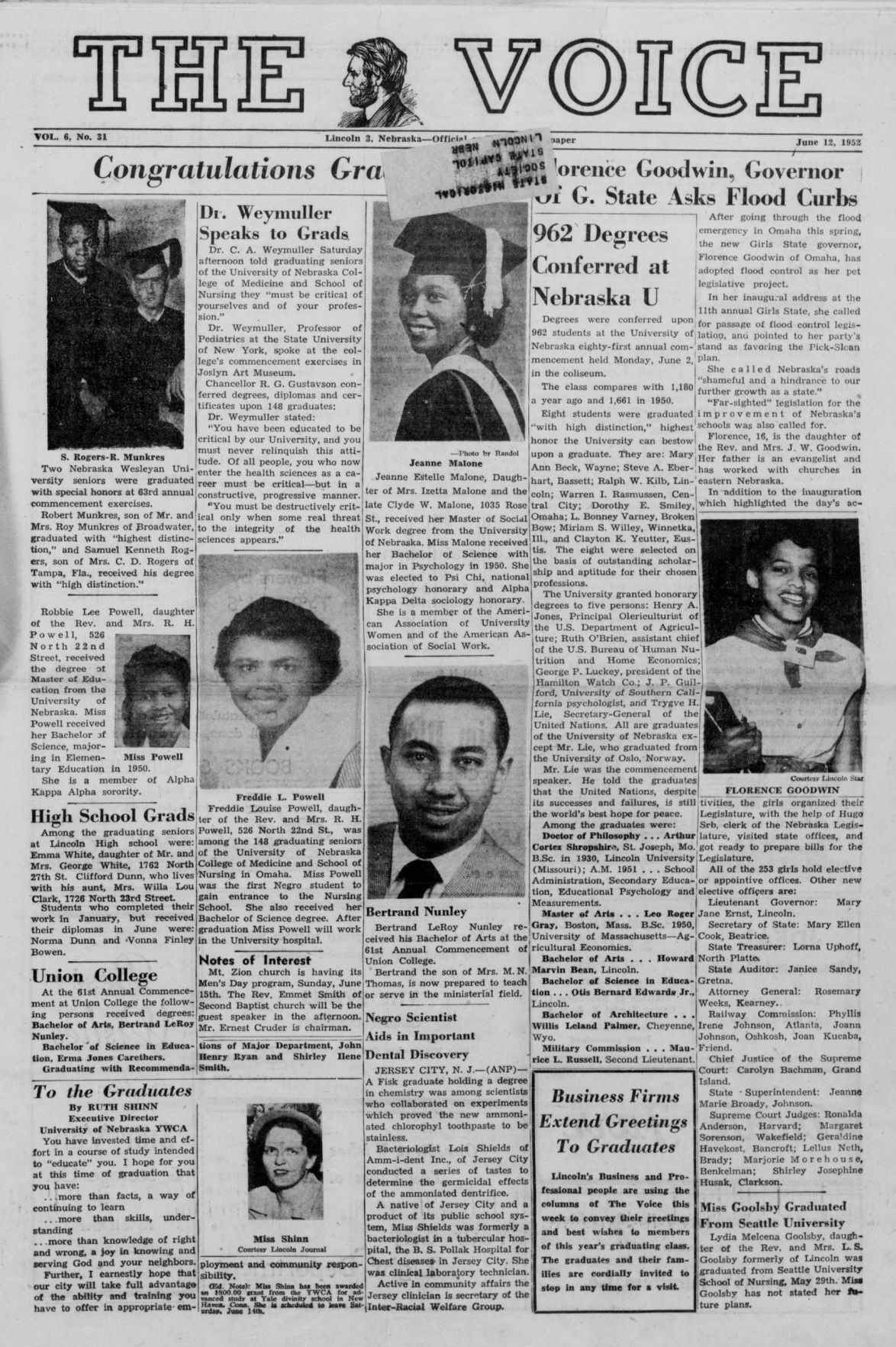The voice. (Lincoln, Nebraska). 1952-06-12 [p ].