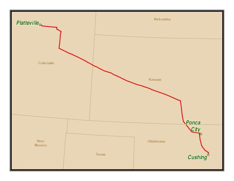 Map of Saddlehorn Pipeline route | | journalstar com