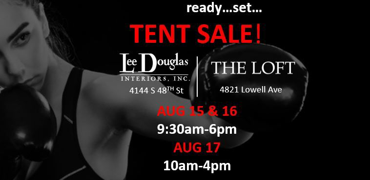 Lee Douglas Interiors Tent Sale