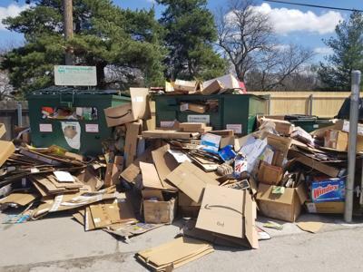 Recycling cardboard