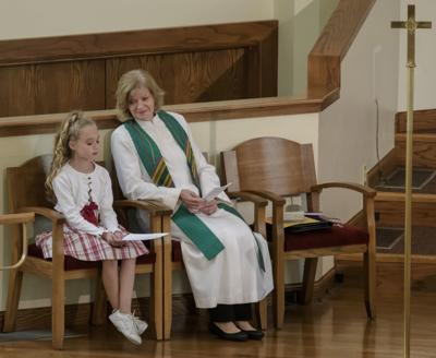 Dr. Jane Florence with young churchgoer