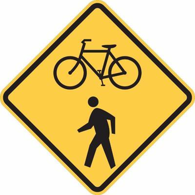 Bike and pedestrian sign