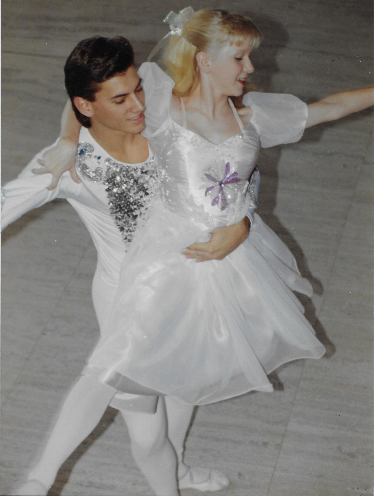 Jarrod Ronhovde as Nutcracker and Hilary Johnson as Clara in December 1989
