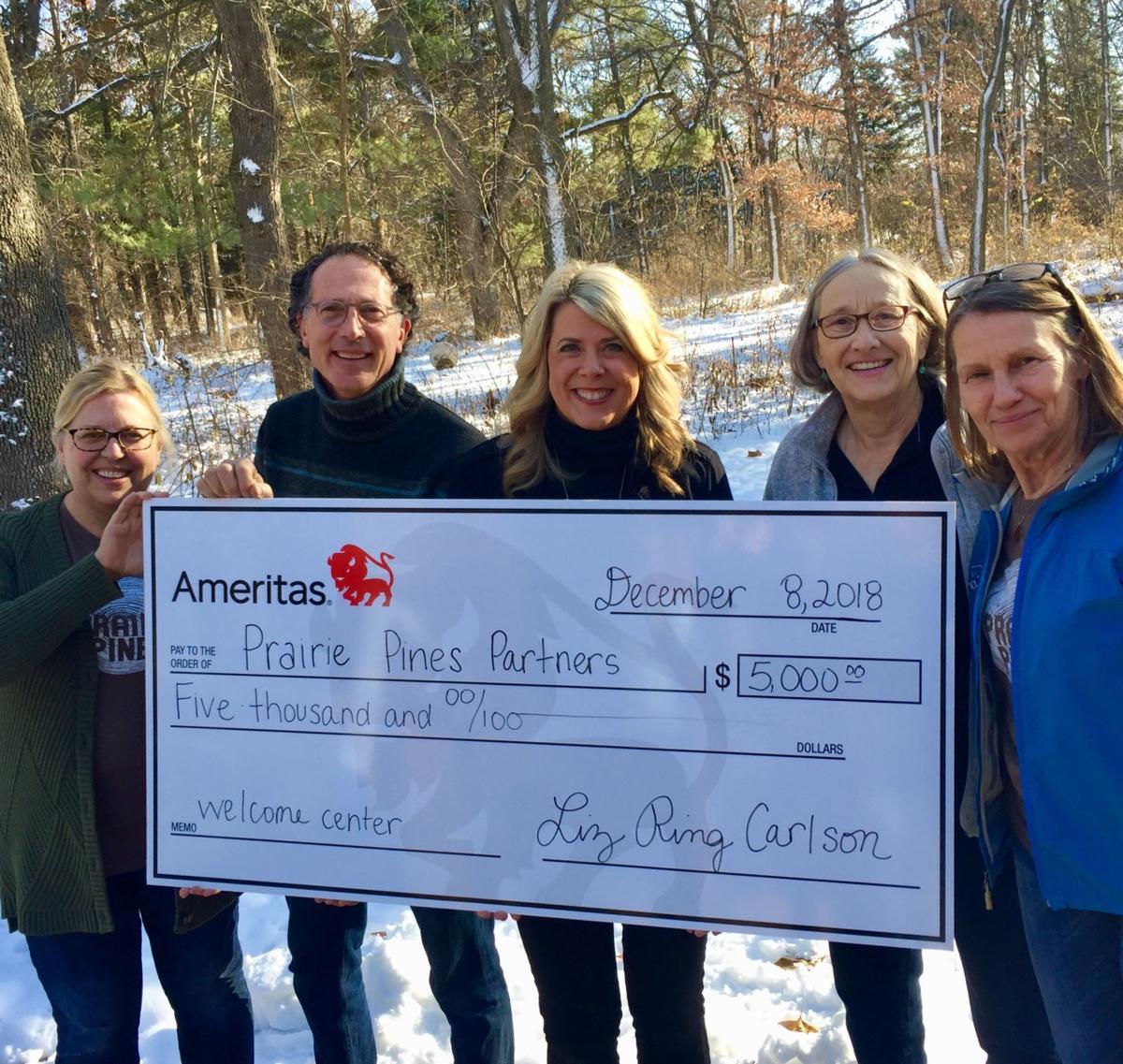 Ameritas donation to Prairie Pines