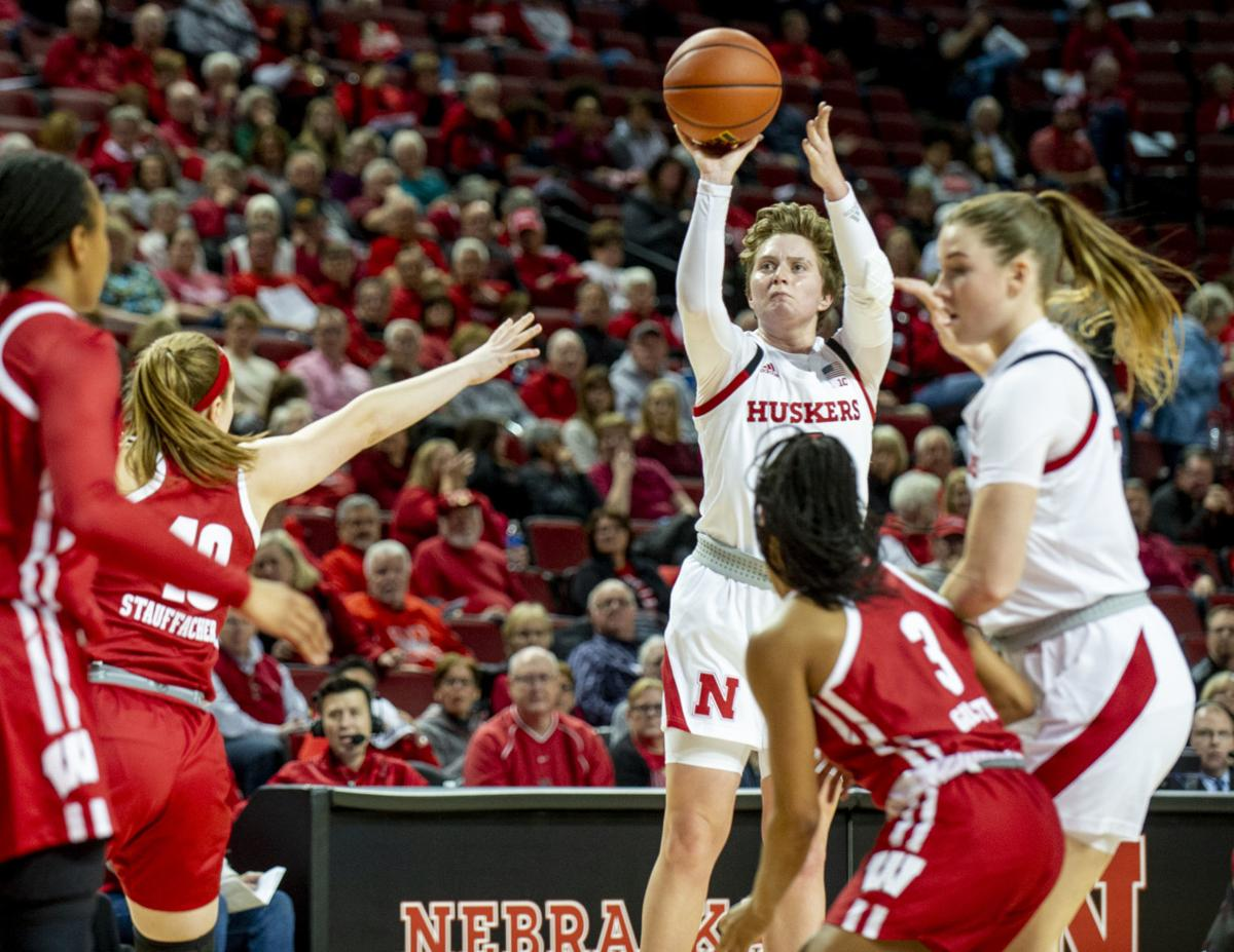 Nebraska vs. Wisconsin women's basketball, 1.9