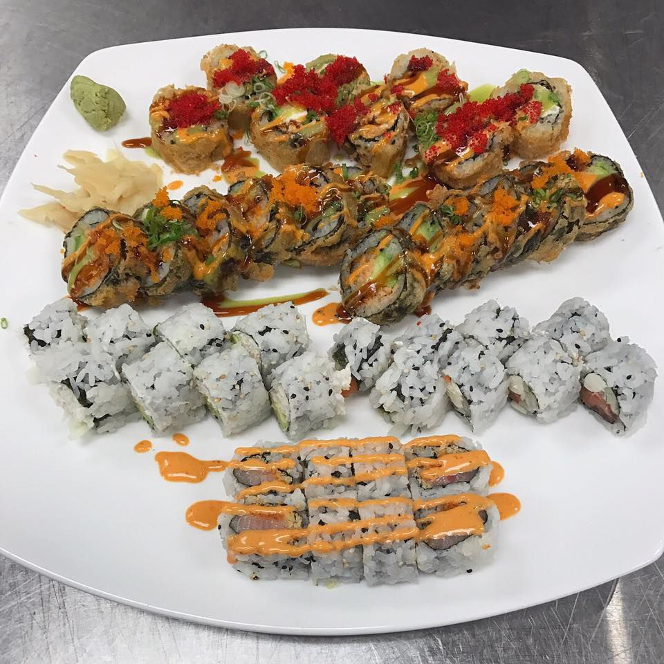Ginger Grill sushi options
