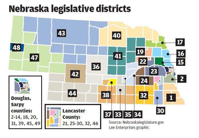 Nebraska legislative districts