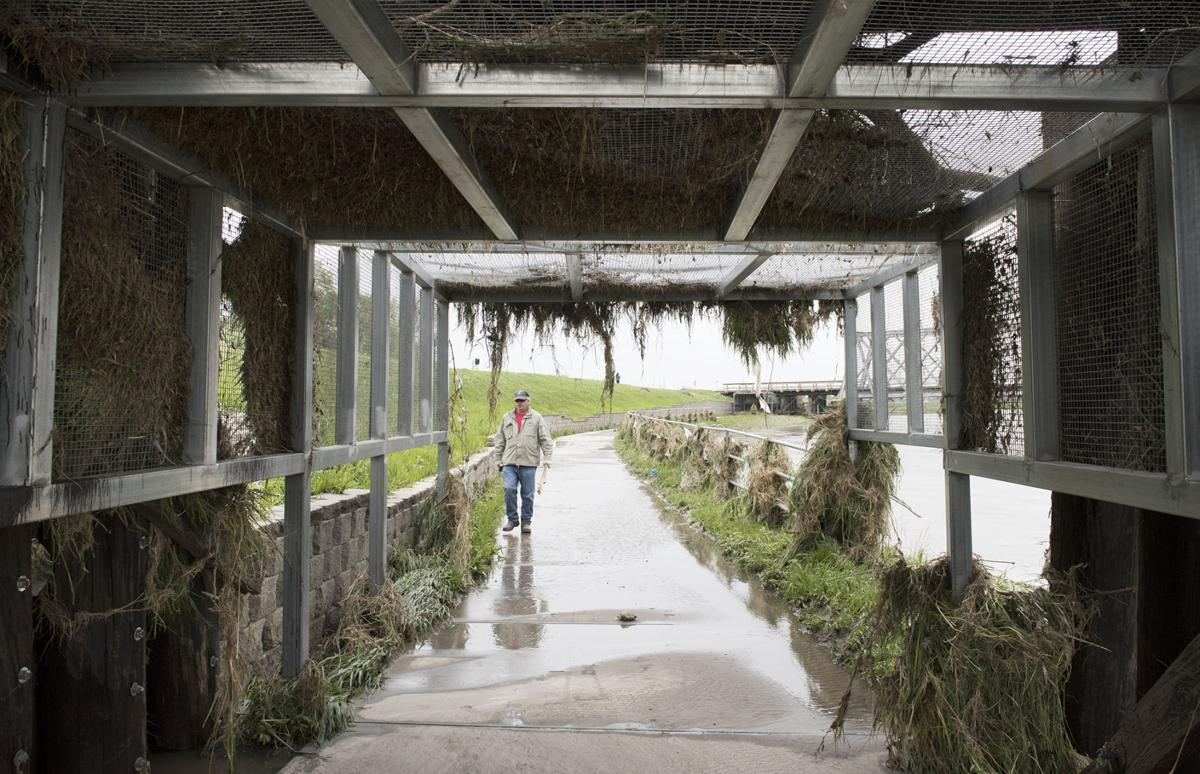 Salt Creek flooding recedes