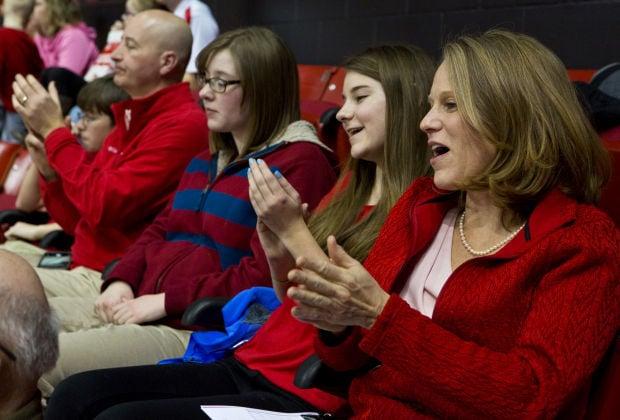 Gymnastics meet with Nebraska first lady Susanne Shore