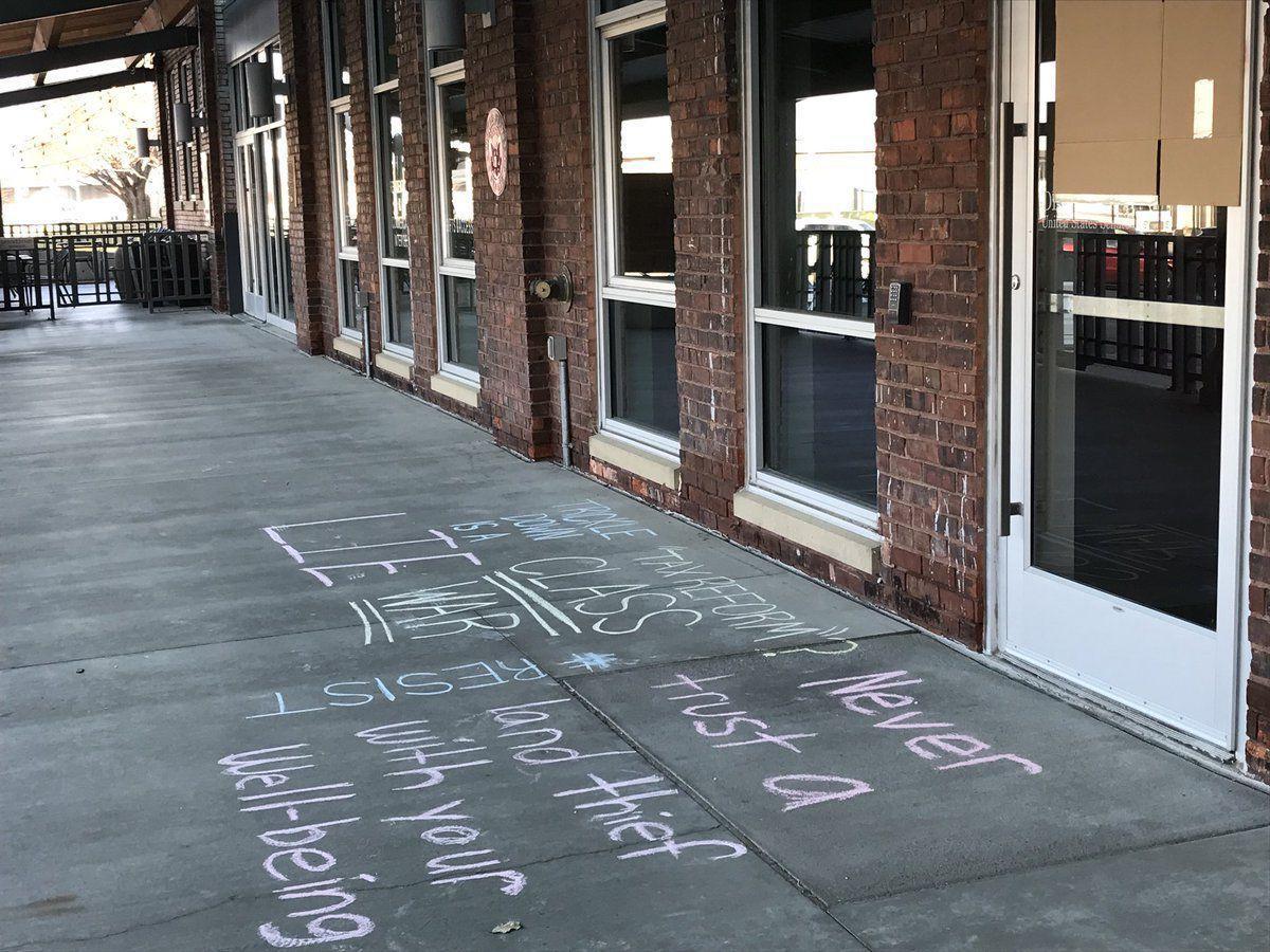 Fischer office vandalism