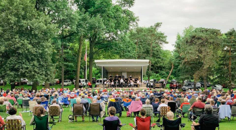 Municipal Band in bandshell at Antelope Park