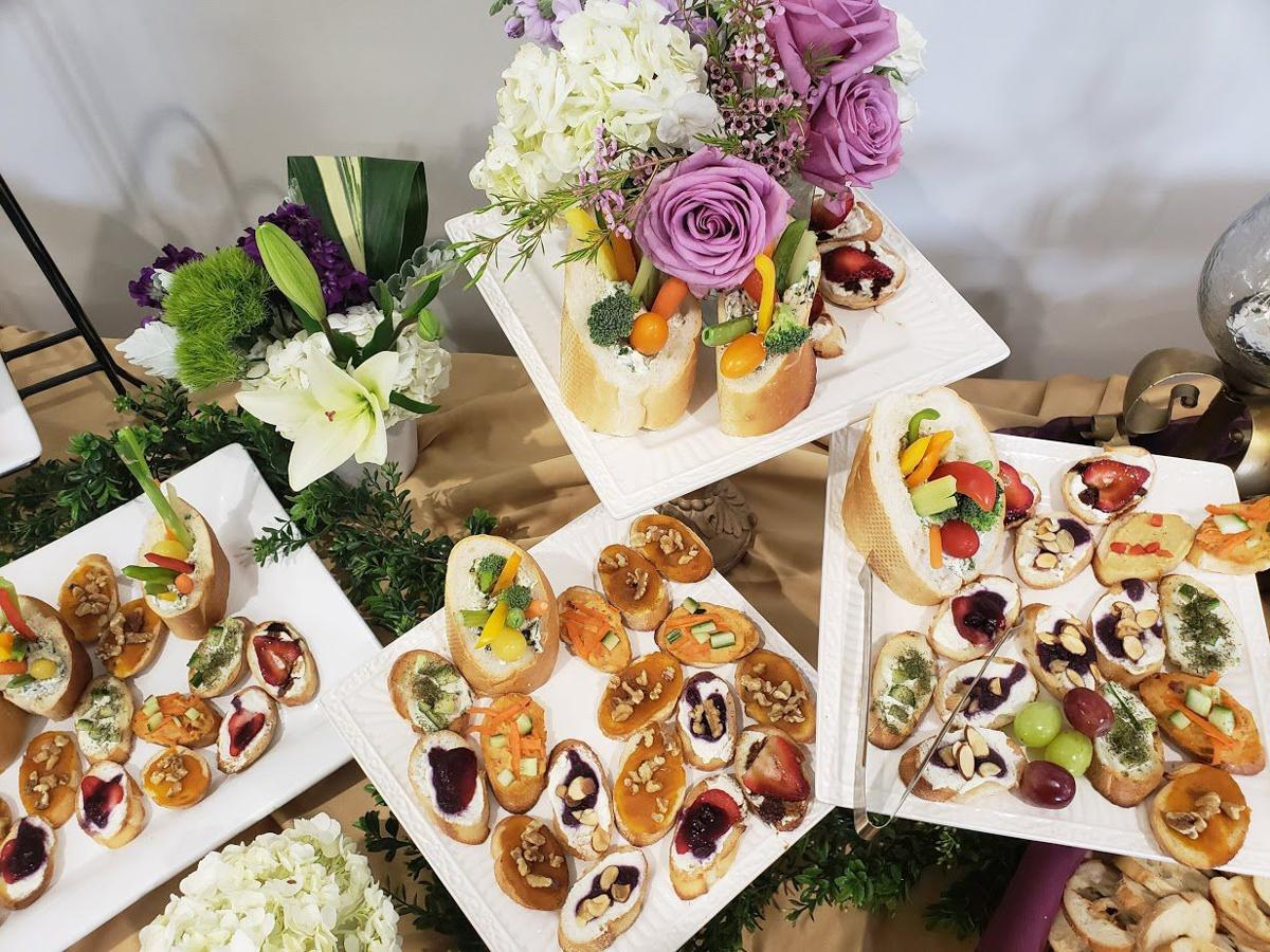 Edible spread by Doorstep Diner Catering