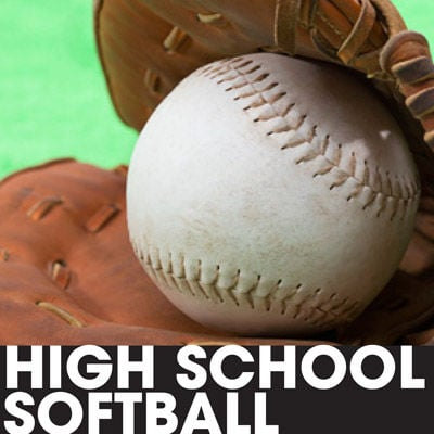 High school softball prep logo