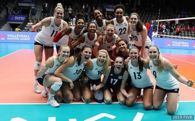 United States women beat No  1 Serbia in FIVB Volleyball Nations