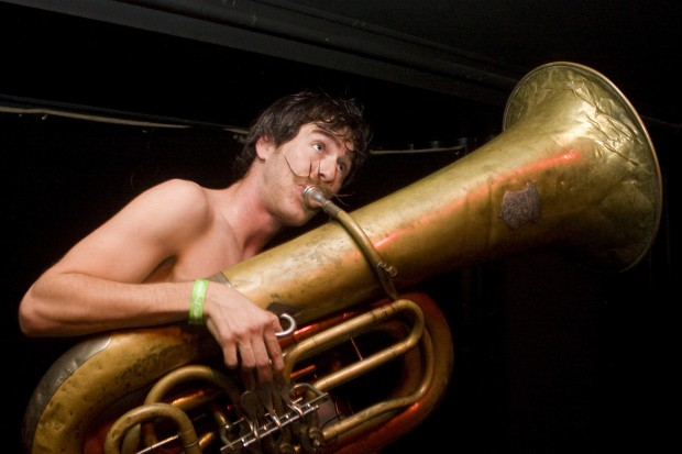 Brian Brazier of Bolzen Beer Band