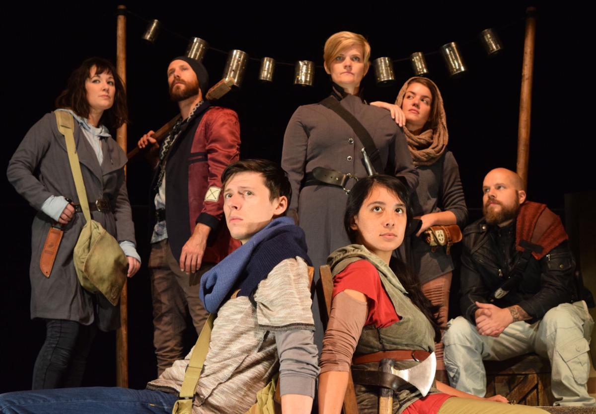 The traveling Nebraska Shakespeare cast
