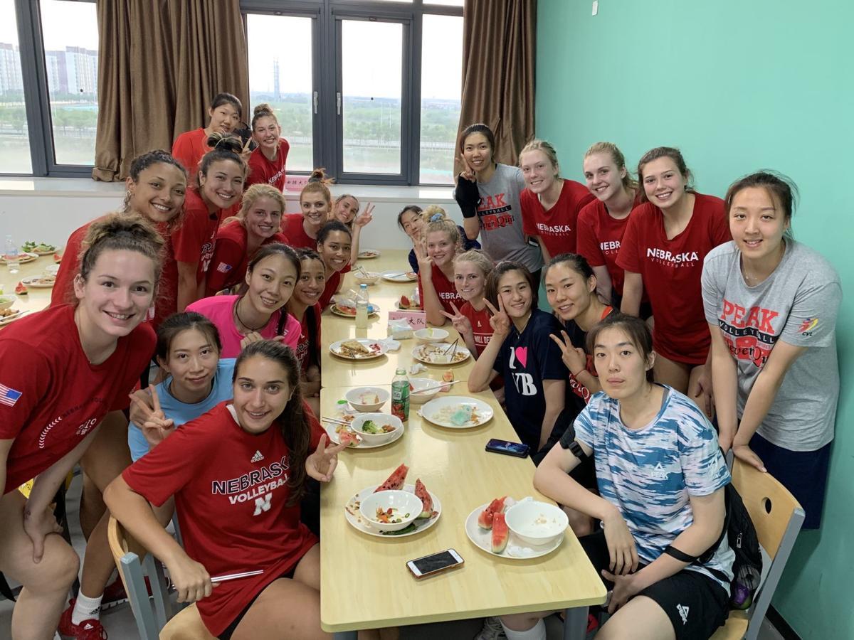 Nebraska volleyball in China